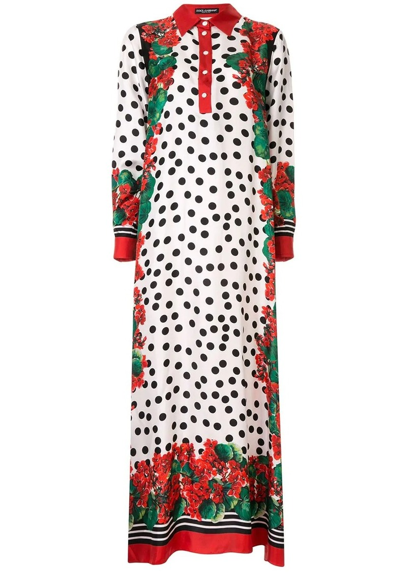 Dolce & Gabbana polka dot long dress