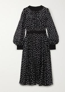 Dolce & Gabbana Polka-dot Silk-blend Chiffon Midi Dress