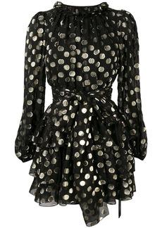 Dolce & Gabbana polka dot tier dress