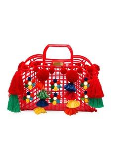 Dolce & Gabbana Pom Pom Tassel Tote Bag