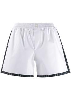 Dolce & Gabbana poplin elasticated mini shorts