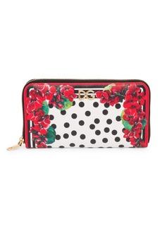 Dolce & Gabbana Portofino-Print Leather Zip-Around Wallet