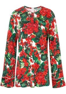 Dolce & Gabbana Portofino print blouse