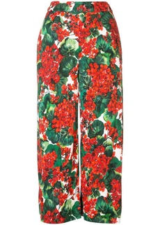 Dolce & Gabbana portofino print cropped trousers