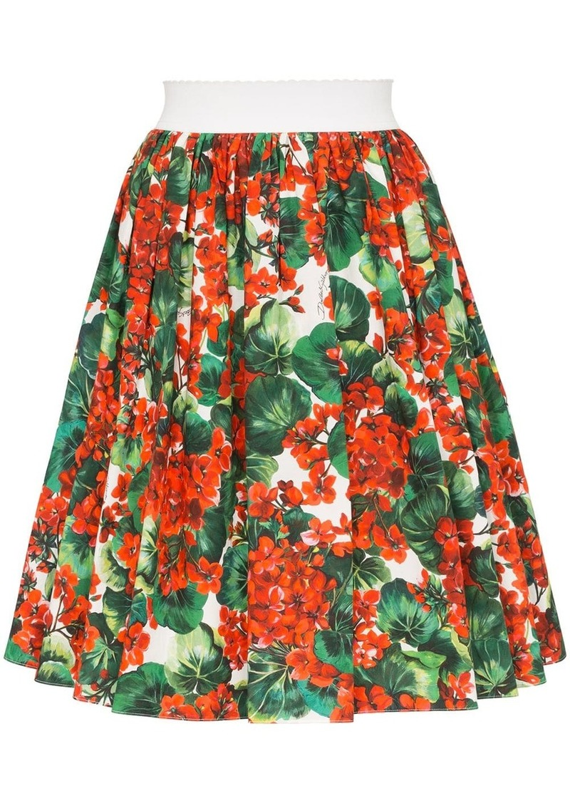 Dolce & Gabbana Portofino print skirt