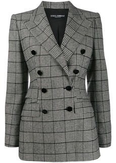 Dolce & Gabbana Prince of Wales double-breasted blazer