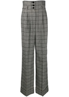 Dolce & Gabbana Prince of Wales high-waisted trousers