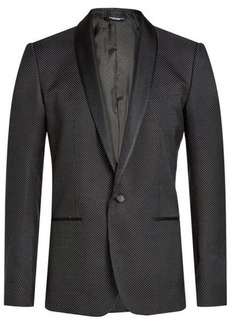 Dolce & Gabbana Printed Blazer with Cotton and Silk