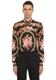Dolce & Gabbana Printed Cotton Poplin Shirt