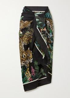 Dolce & Gabbana Printed Cotton-voile Pareo