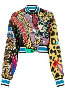 Dolce & Gabbana printed cropped jacket