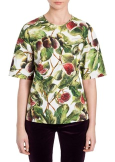 Dolce & Gabbana Printed Fig Top
