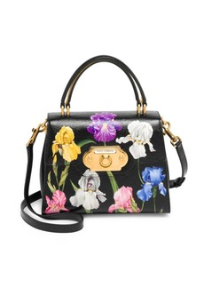 Dolce & Gabbana Printed Floral Leather Top Handle Bag