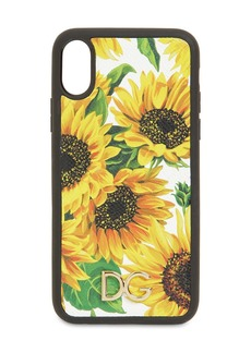 Dolce & Gabbana Printed Leather Iphone X/xs Cover