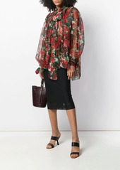 Dolce & Gabbana printed pussybow blouse