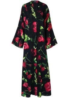 Dolce & Gabbana printed roses kimono dress