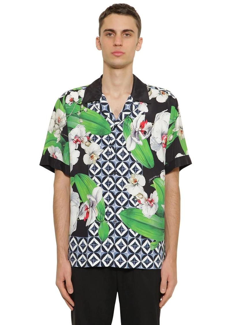 Dolce & Gabbana Printed Viscose Bowling Shirt