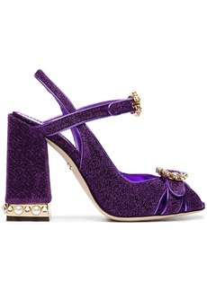 Dolce & Gabbana purple Bette 105 lurex crystal sandals