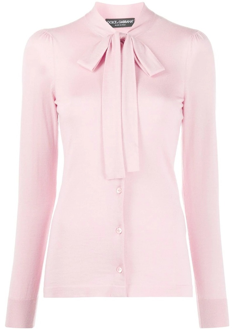 Dolce & Gabbana pussycat bow long-sleeved blouse