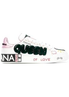 Dolce & Gabbana queen appliqué sneakers