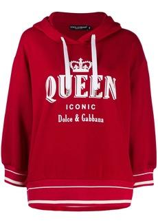 Dolce & Gabbana Queen Iconic print hoodie