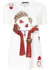 Dolce & Gabbana Queen Playing Card print T-shirt