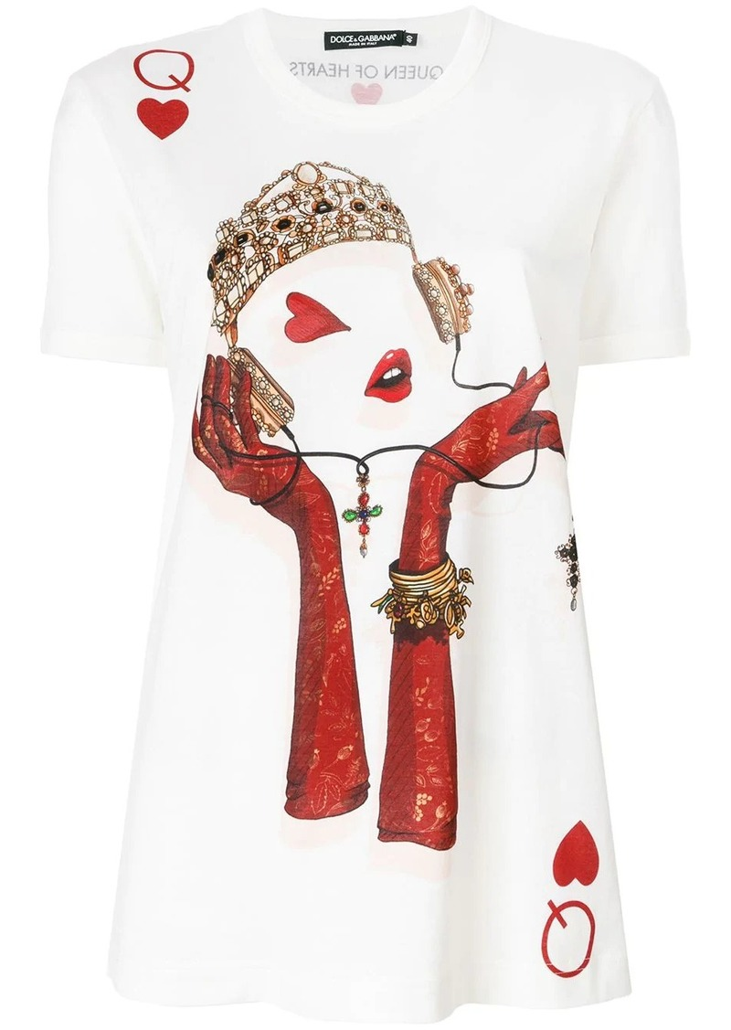 Dolce & Gabbana Queen Playing Card print T-shirt