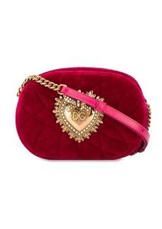Dolce & Gabbana quilted velvet shoulder bag