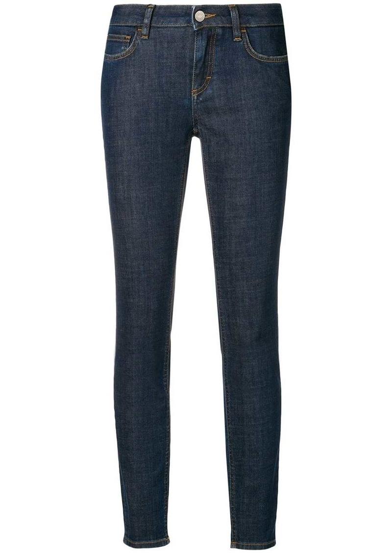 Dolce & Gabbana rear-slogan skinny-fit jeans