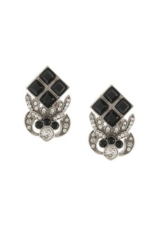 Dolce & Gabbana rhinestone-embellished logo earrings