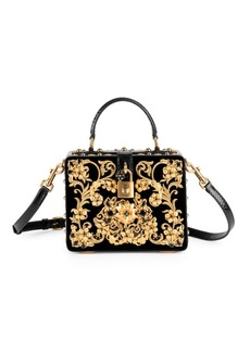 Dolce & Gabbana Ricam Embellished Box Bag