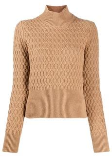Dolce & Gabbana roll neck diamond knit jumper