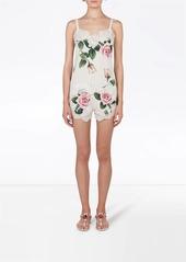 Dolce & Gabbana rose lace-trim shorts