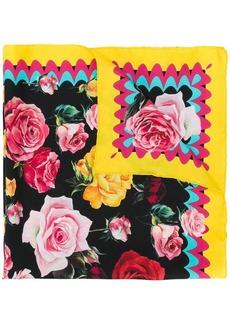 Dolce & Gabbana rose print bandana scarf