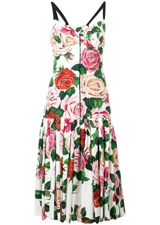 Dolce & Gabbana rose print midi dress