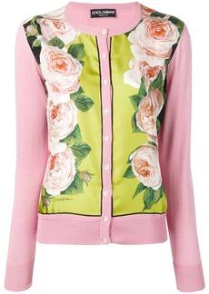 Dolce & Gabbana rose printed panel cardigan