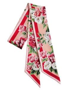 Dolce & Gabbana Roses Printed Silk Scarf