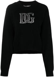 Dolce & Gabbana round neck logo jumper