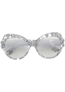 Dolce & Gabbana round oversized sunglasses Lace edition