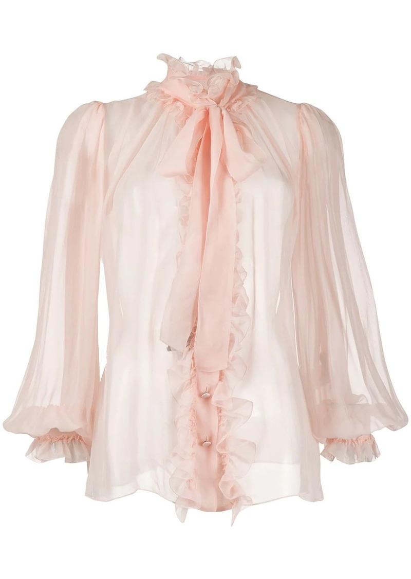 Dolce & Gabbana ruffle trim blouse