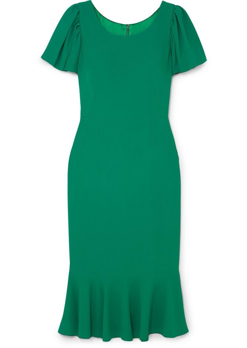 Dolce & Gabbana Ruffled Cady Midi Dress
