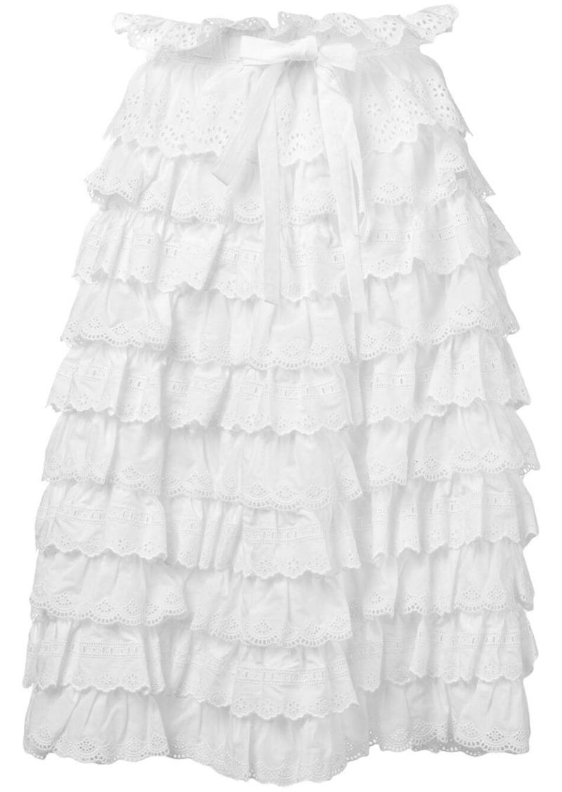 Dolce & Gabbana ruffled midi skirt