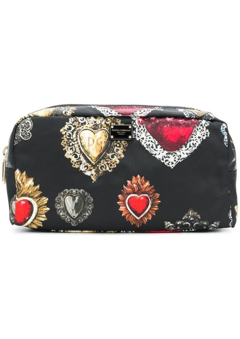 Dolce & Gabbana Sacred Heart print makeup bag