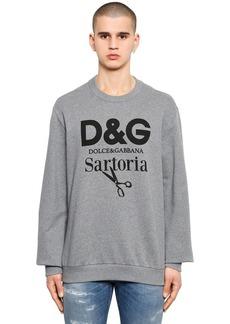Dolce & Gabbana Sartoria Logo Printed Cotton Sweatshirt