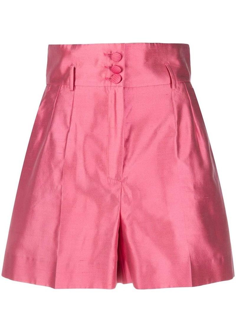 Dolce & Gabbana satin-effect short shorts