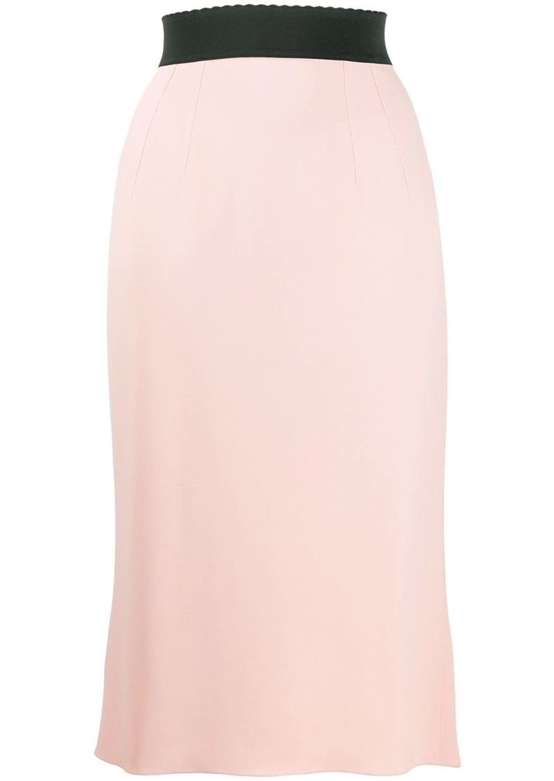 Dolce & Gabbana scalloped waistband skirt