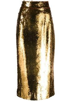 Dolce & Gabbana sequin-embellished pencil skirt