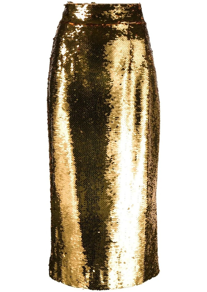 Dolce & Gabbana sequin-embellished pencil skirt