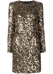 Dolce & Gabbana sequined leopard-print mini dress