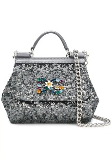 Dolce & Gabbana sequinned mini Sicily bag